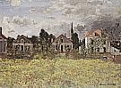 Houses by the edge of the Fields, 1873 - Claude Monet reproduction oil painting