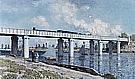 The Railroad Bridge at Argenteuil, 1873 - Claude Monet reproduction oil painting