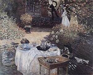 The Luncheon, 1873 - Claude Monet reproduction oil painting