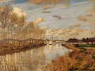 Small Arm of the Seine 1876 - Claude Monet reproduction oil painting