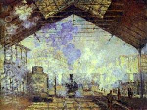 Interior of the Gare Saint-Lazare, 1877 - Claude Monet reproduction oil painting