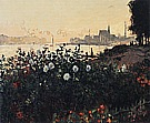 Argenteuil, the Bank in Flower, 1877 - Claude Monet reproduction oil painting