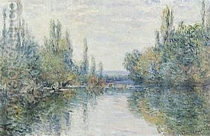 The Seine at Vetheuil, 1879 - Claude Monet reproduction oil painting