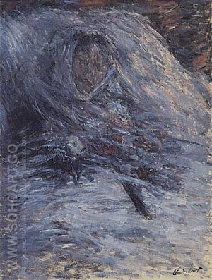 Camille on Her Deathbed,1879 - Claude Monet reproduction oil painting