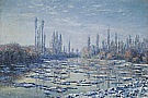 Ice Floes on the Seine - Claude Monet reproduction oil painting