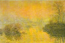 Sunset at Lavancourt, 1880 - Claude Monet reproduction oil painting