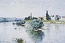 The Seine at Lavancourt, 1880 - Claude Monet reproduction oil painting