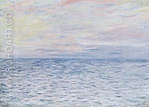 Sunset at Pourville, 1882 - Claude Monet reproduction oil painting