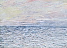 Sunset at Pourville, 1882 - Claude Monet reproduction oil painting
