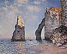 The Needle Rock and the Porte d' Aval, 1885 - Claude Monet reproduction oil painting