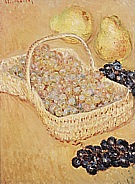 Basket of Grapes, Quinces, and Pears, 1883 - Claude Monet reproduction oil painting