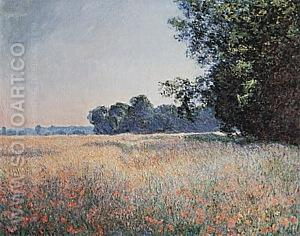 Oat Fields (Giverny), 1890 - Claude Monet reproduction oil painting