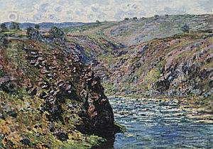 Valley of the Creuse (Sunlight Effect), 1889 - Claude Monet reproduction oil painting
