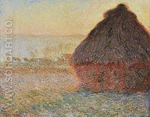 Wheatstack (Sunset), 1890-91 - Claude Monet reproduction oil painting
