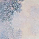 Morning on the Seine, near Giverny Mist 1896-97 - Claude Monet reproduction oil painting