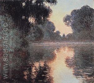 Morning on the Seine, near Giverny, 1896-97 - Claude Monet reproduction oil painting