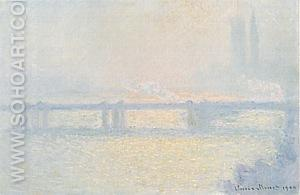 Charing Cross Bridge, The Thames, 1899-1900 - Claude Monet reproduction oil painting