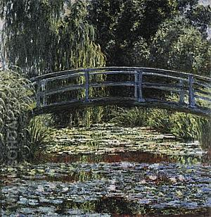 The Water Lily Pond [Japanese Bridge], 1899 - Claude Monet reproduction oil painting