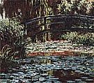 The Water Lily Pond [Japanese Bridge], 1900 - Claude Monet reproduction oil painting
