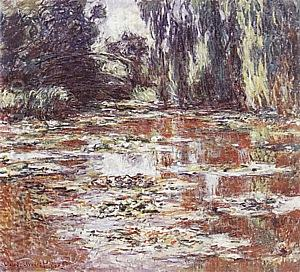 Water Lily Pond, The Bridge, 1905 - Claude Monet reproduction oil painting