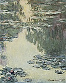 Water Lilies, 1907 - Claude Monet reproduction oil painting