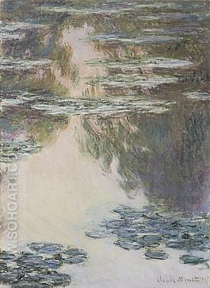 Water Lilies 2, 1907 - Claude Monet reproduction oil painting