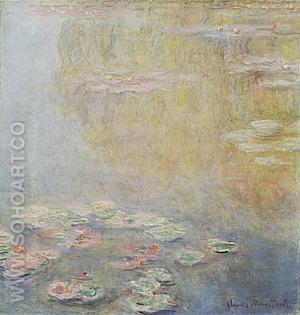 Water Lilies 2, 1908 - Claude Monet reproduction oil painting