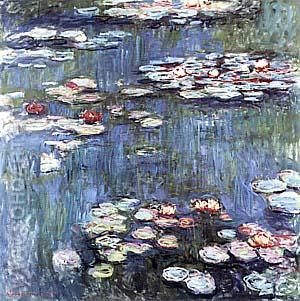 Water Lilies, 1917 - Claude Monet reproduction oil painting
