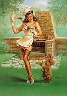 Barbecutie - Pin Ups reproduction oil painting