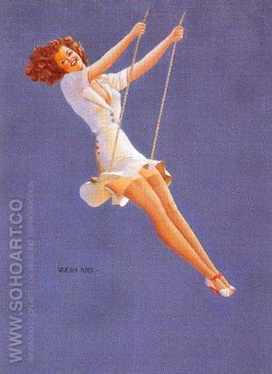 Keep 'em Flying - Pin Ups reproduction oil painting