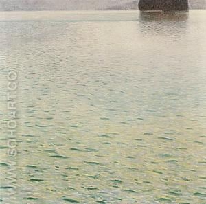 Island in Lake Atter, 1901 - Gustav Klimt reproduction oil painting