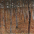 Beech Forest I, 1902 - Gustav Klimt reproduction oil painting