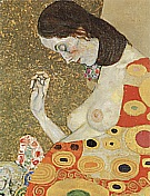 Hope II Detail, 1907 - Gustav Klimt reproduction oil painting
