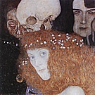 Hope I (Detail), 1903 - Gustav Klimt reproduction oil painting