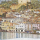Malcesine on Lake Garda, 1913 - Gustav Klimt reproduction oil painting