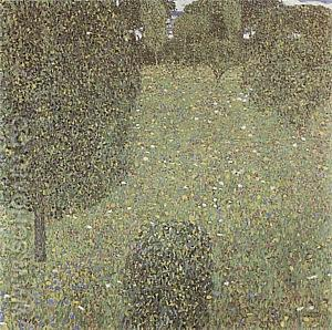 Landscape Garden (Meadow in Flower), 1906 - Gustav Klimt reproduction oil painting