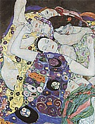 Virgin Detail - Gustav Klimt reproduction oil painting