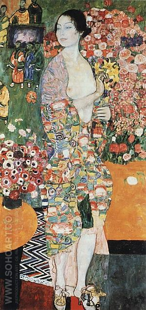 Leda, 1917 - Gustav Klimt reproduction oil painting