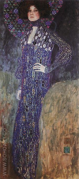 Portrait of Emilie Floge, 1902 - Gustav Klimt reproduction oil painting