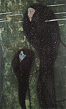 Mermaid (Whitefish), 1809 - Gustav Klimt reproduction oil painting