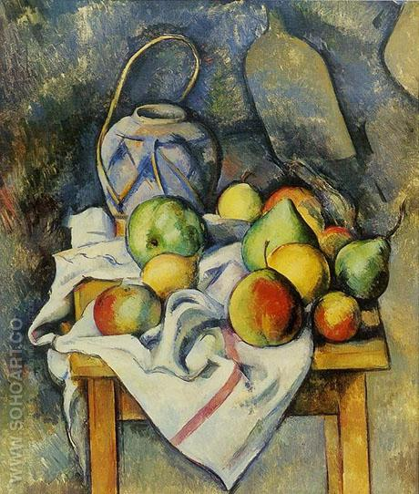 La Vase Paille - Paul Cezanne reproduction oil painting