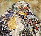 Baby (Detail), 1917/18 - Gustav Klimt reproduction oil painting