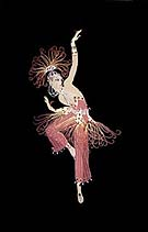 Firebird - Erte reproduction oil painting