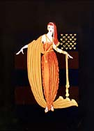 Fringe Cape - Erte reproduction oil painting