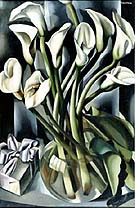 Arums Calla Lily - Tamara de Lempicka reproduction oil painting