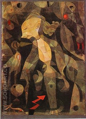 A Young Lady's Adventure 1921 - Paul Klee reproduction oil painting