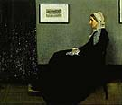 Arrangement in Grey and Black No 1: The Artist's Mother 1871 - James McNeill Whistler reproduction oil painting