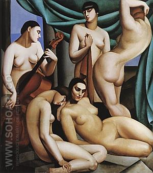 Rhythm, 1924 - Tamara de Lempicka reproduction oil painting