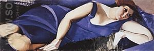 Woman Lying on the Grass 1926 - Tamara de Lempicka reproduction oil painting