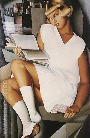 Kizette in Pink, 1926 - Tamara de Lempicka reproduction oil painting